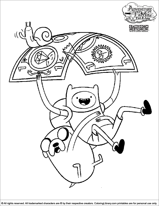 Adventure Time printable coloring page - Coloring Library