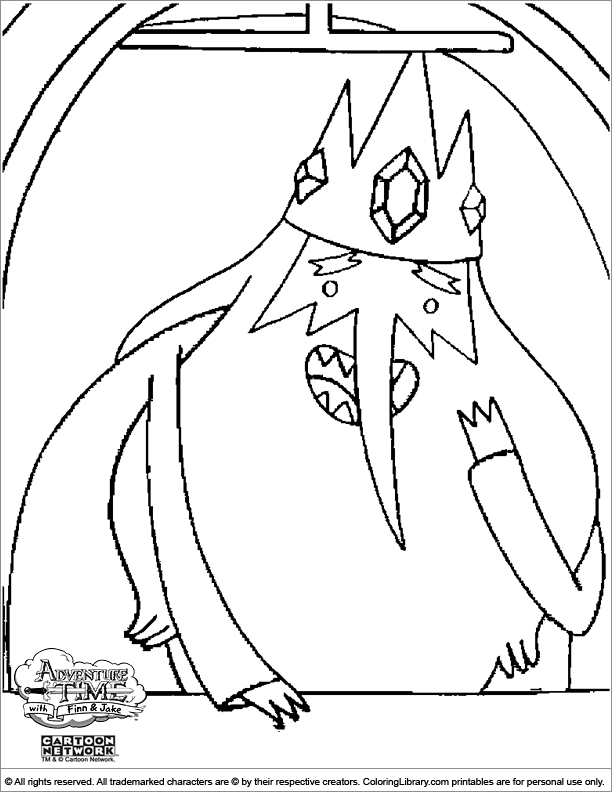 coloring pages of adventure time - photo#32