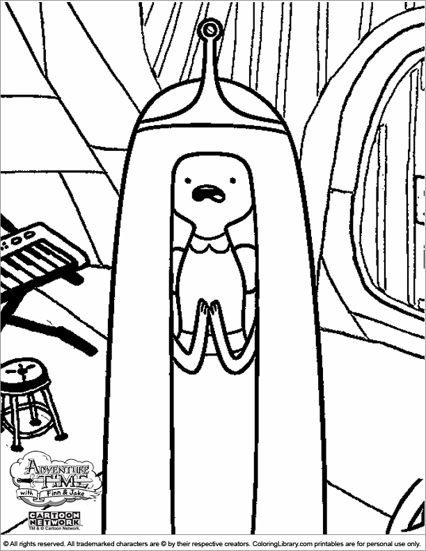 printable adventure time coloring pages Coloring4free ... | 792x612