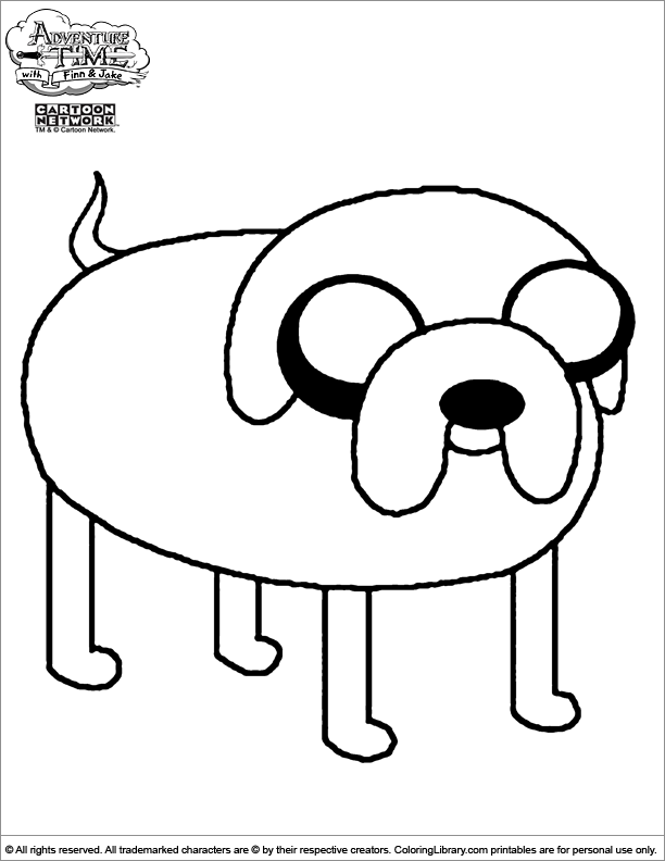 Coloring adventure time coloring