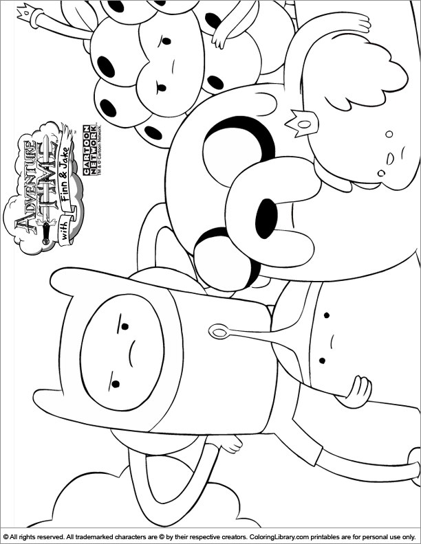 adventure time coloring picture - Adventure Time Coloring Pages Free 2