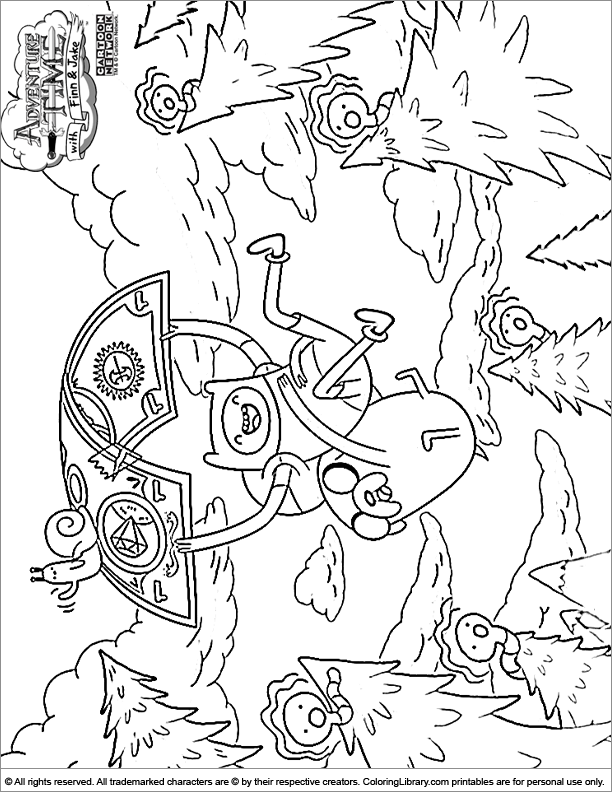 Adventure time coloring picture for Adventure time coloring page