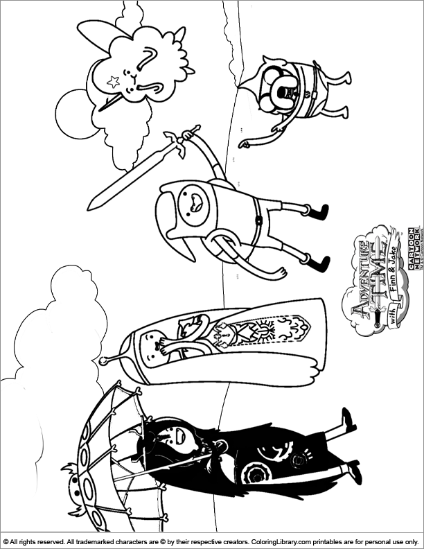 free coloring pages of network adventure time