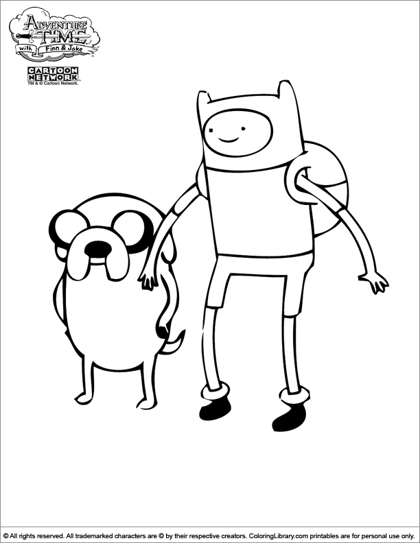 coloring pages of adventure time - photo#14