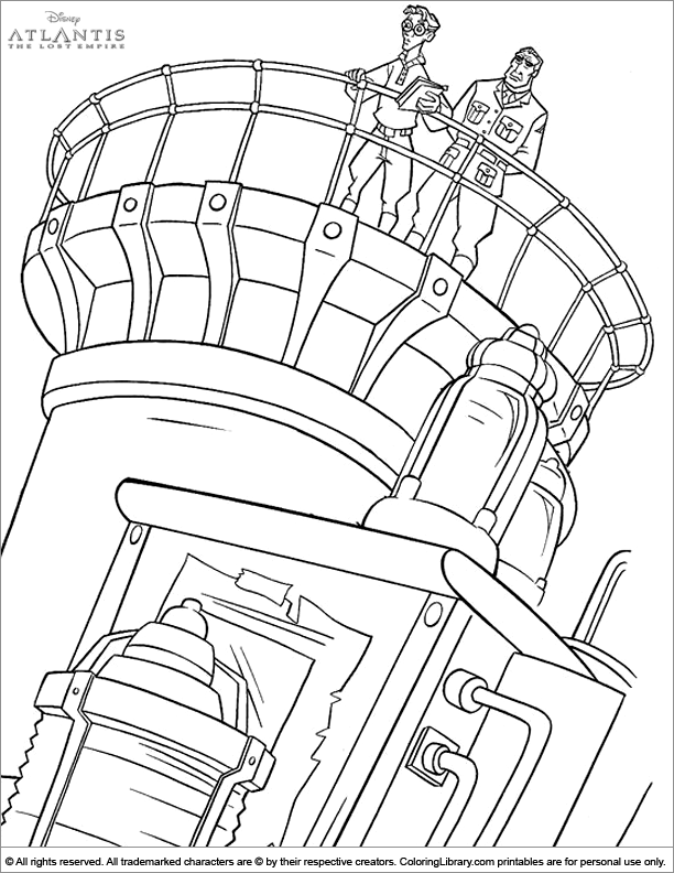 Atlantis The Lost Empire coloring page for kids