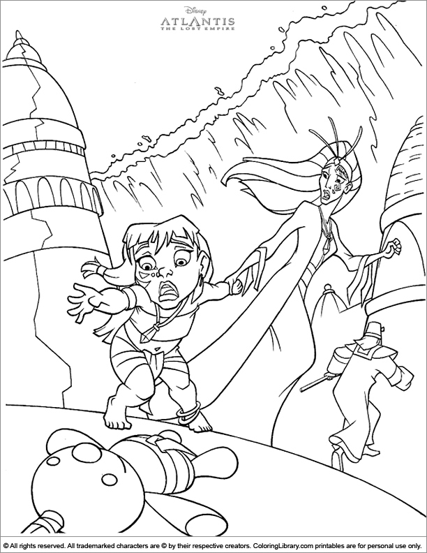 Atlantis The Lost Empire free coloring page