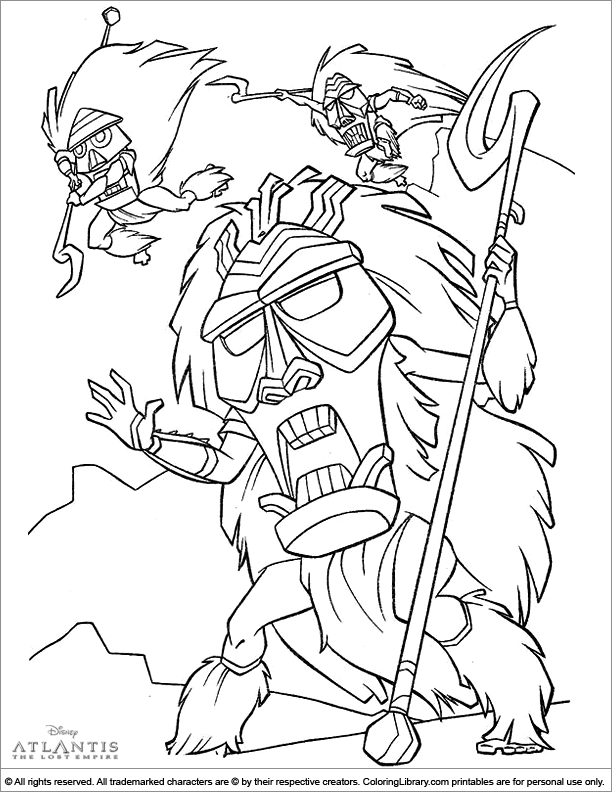 Atlantis The Lost Empire coloring picture