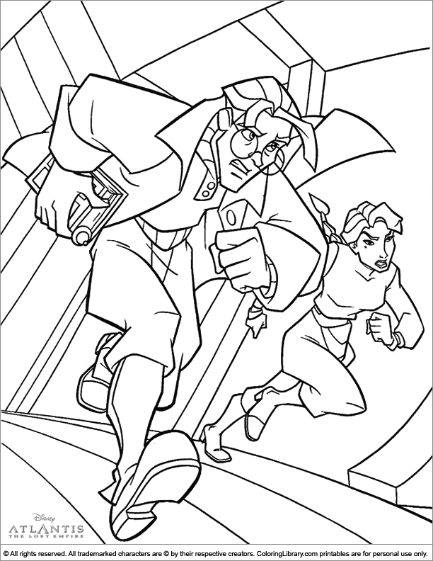 Atlantis The Lost Empire coloring picture for kids