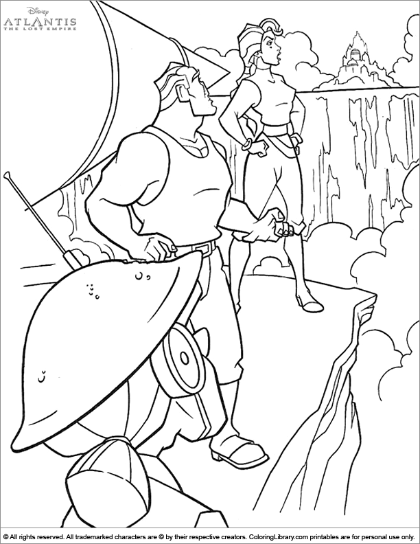 Atlantis The Lost Empire coloring book printable