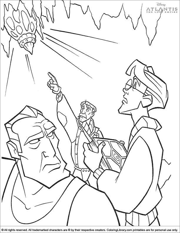 Cool Atlantis The Lost Empire coloring page