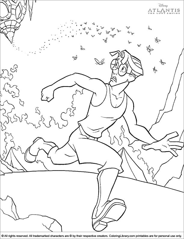 Atlantis The Lost Empire coloring book page