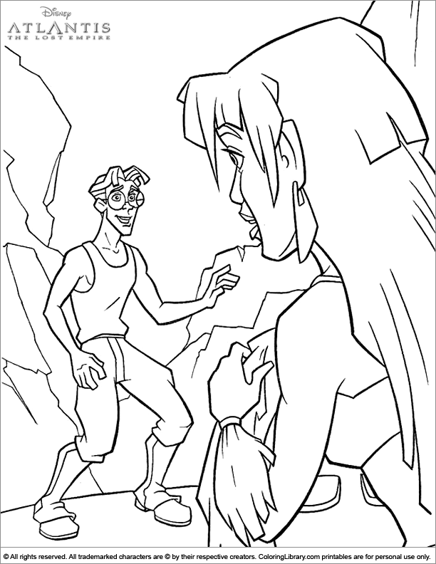 Free Atlantis The Lost Empire coloring page