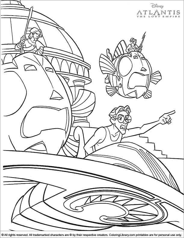 Fun Atlantis The Lost Empire coloring sheet