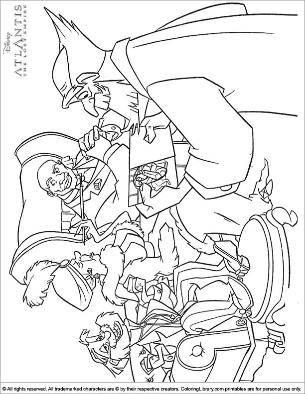 Atlantis The Lost Empire coloring picture