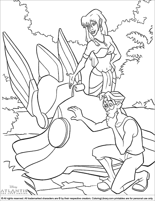 Atlantis The Lost Empire coloring pictures for kids