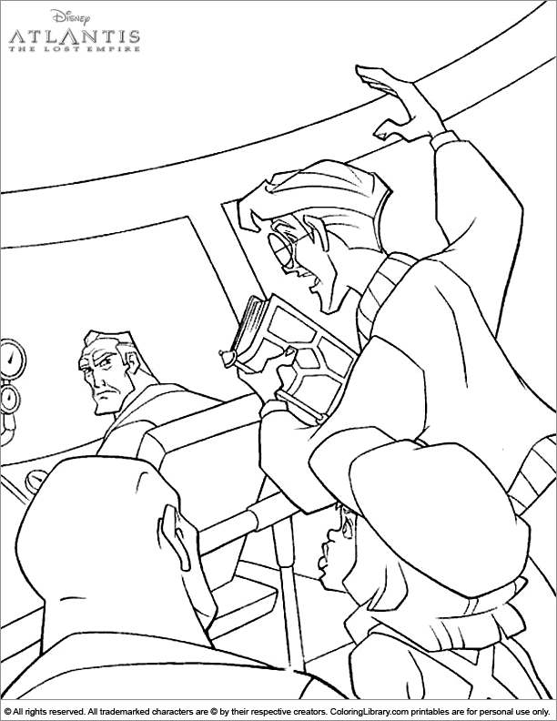 Atlantis The Lost Empire fun coloring sheet