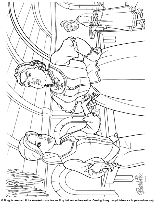 Barbie coloring printable
