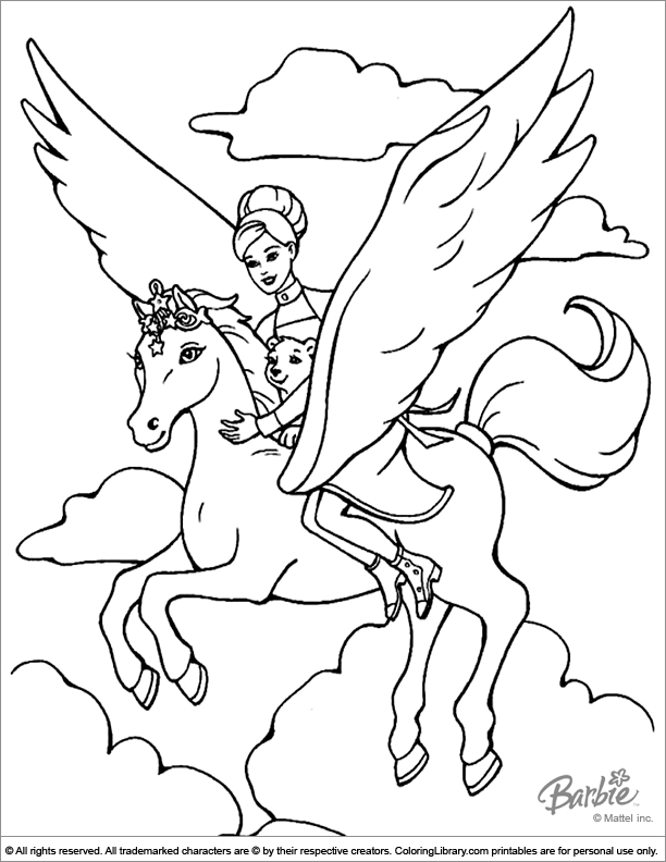 Barbie online coloring page - Coloring Library