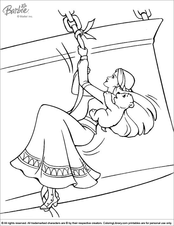 Fun Barbie coloring sheet