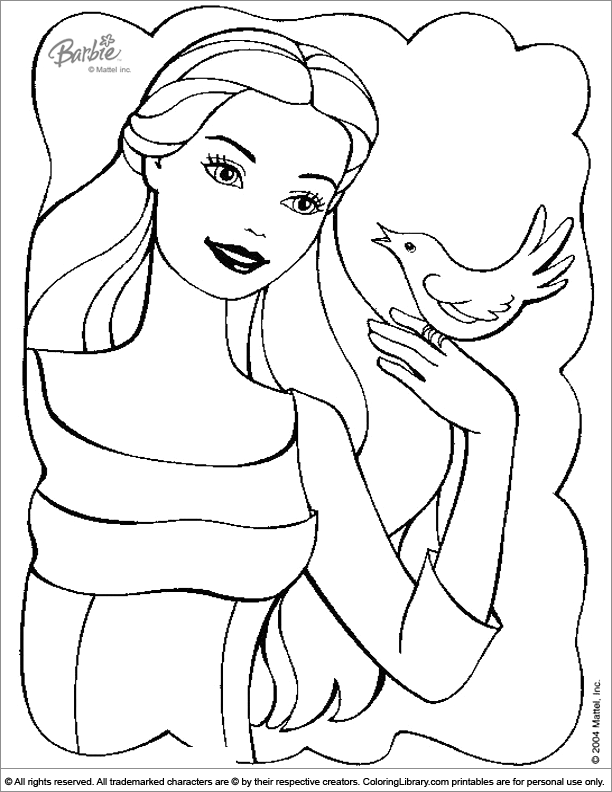 Barbie free online coloring page