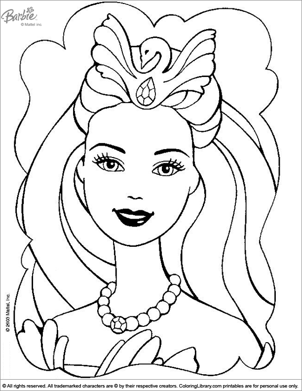 Barbie Coloring Picture Coloring In Pictures