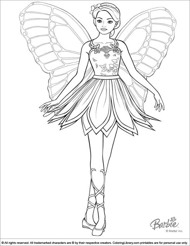 Barbie Coloring Page That You Can Print - Coloring Library
