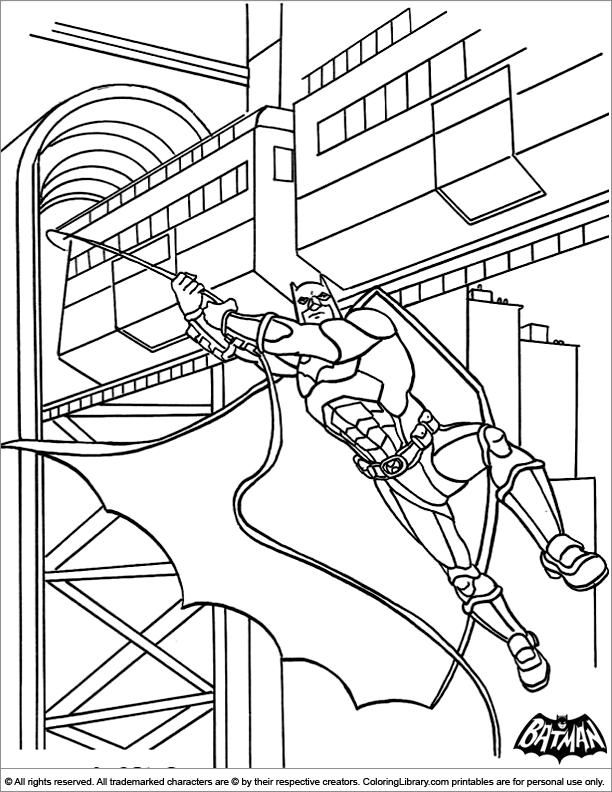 Batman coloring page online