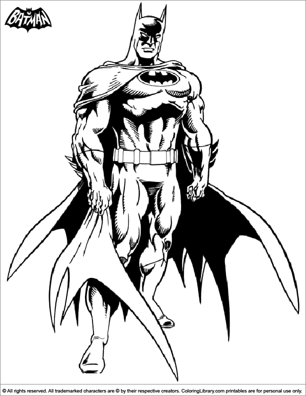 Batman fun coloring page
