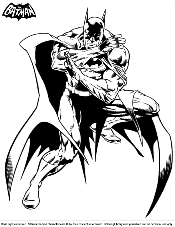 Cool Batman coloring page