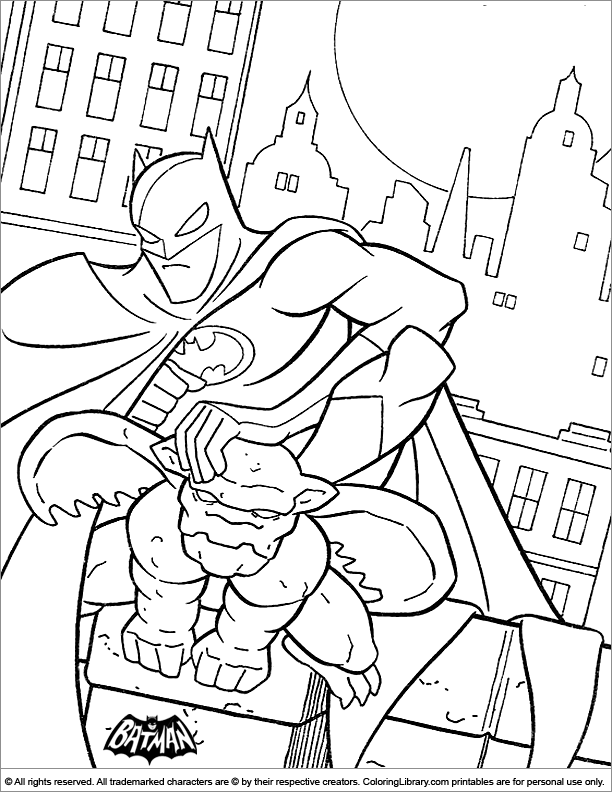 Batman coloring for kids