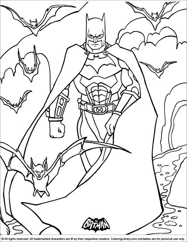 Batman coloring printable for kids