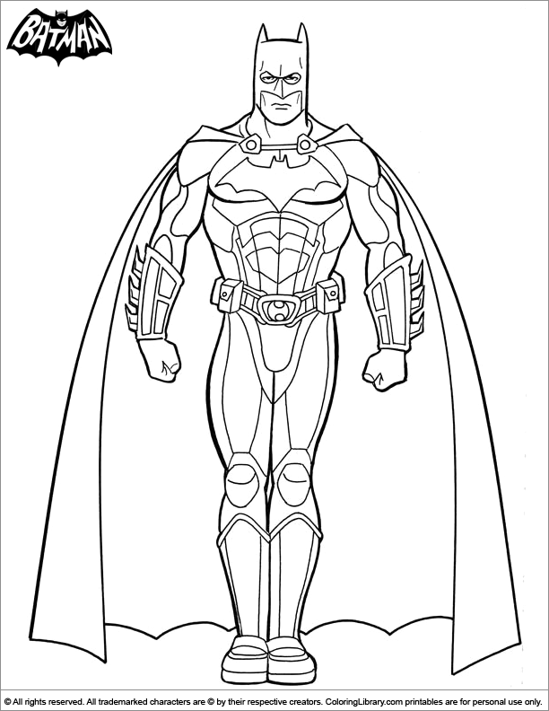 Batman free coloring sheet