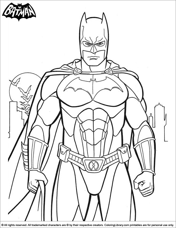 Free Coloring Pages Of Batman Sign