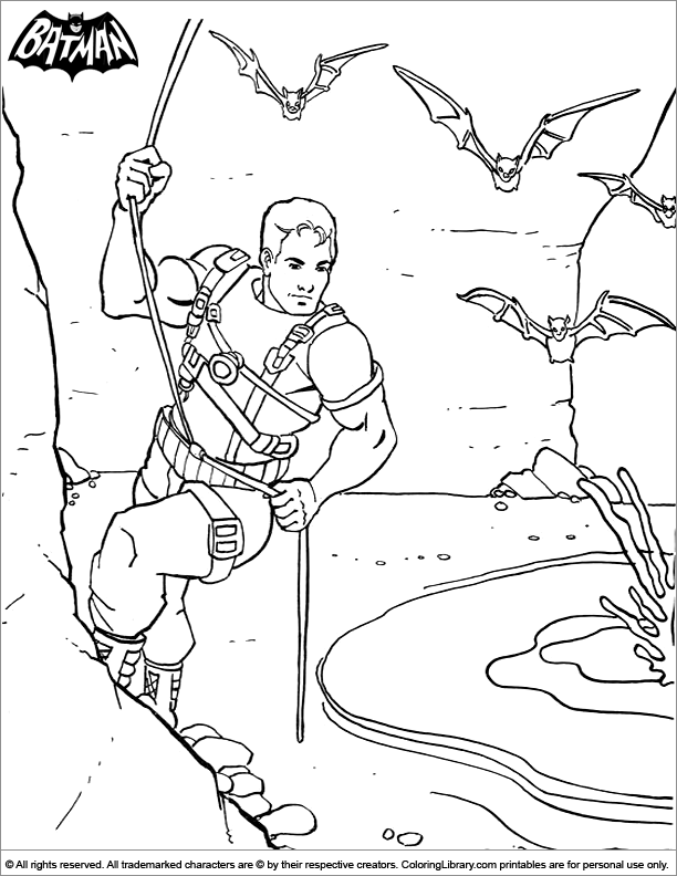 Free Batman coloring page