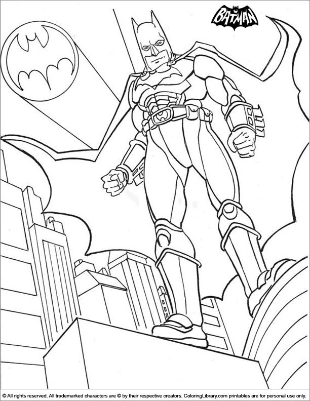 Batman Free Printable Coloring Page - Coloring Library