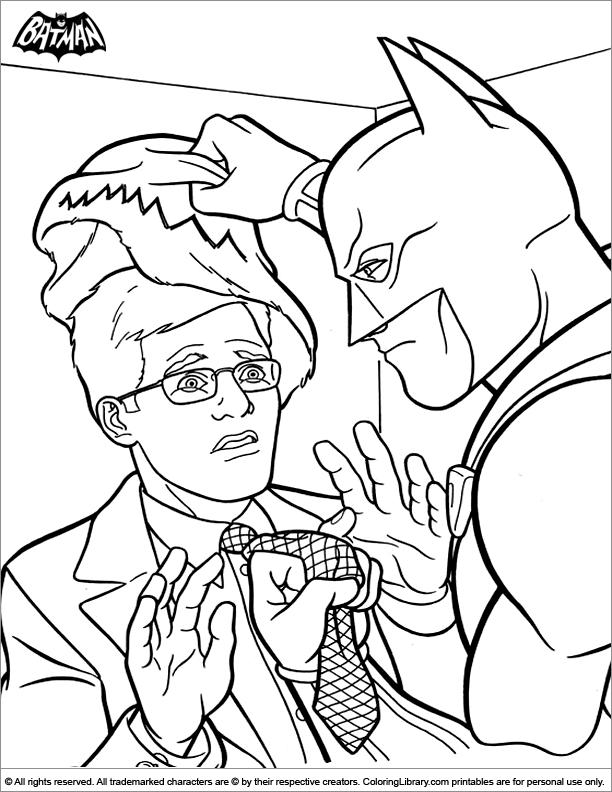 Batman coloring page to print