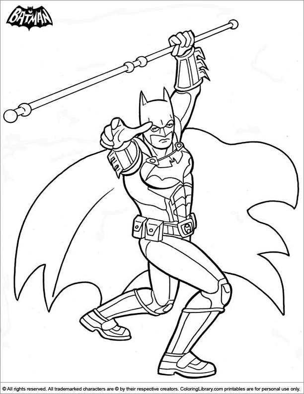 Batman coloring page for kids to print