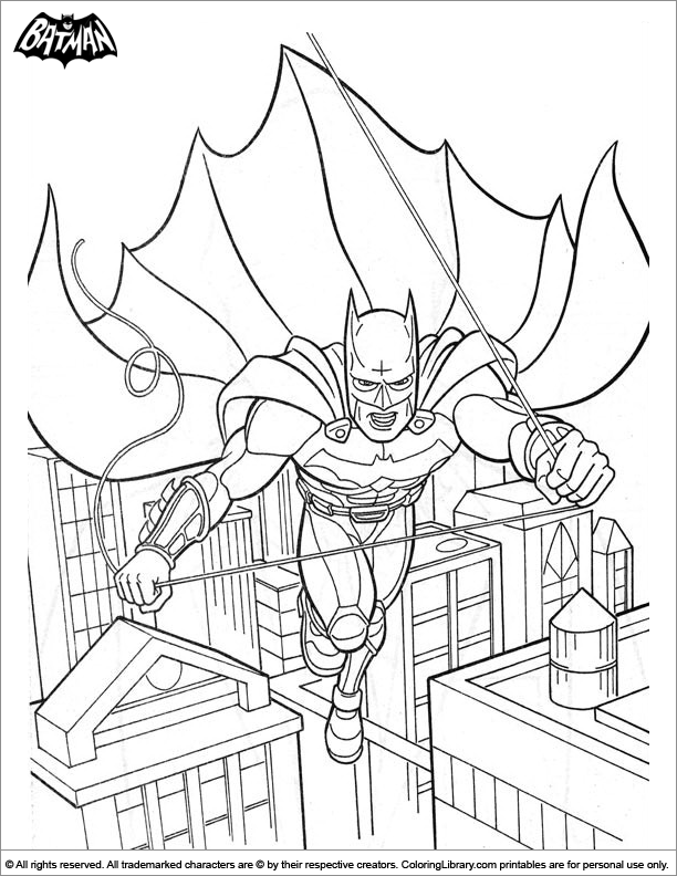 Batman coloring picture to print