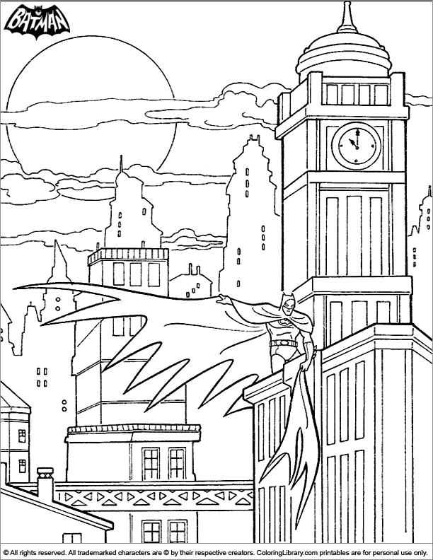 Fun Batman coloring sheet