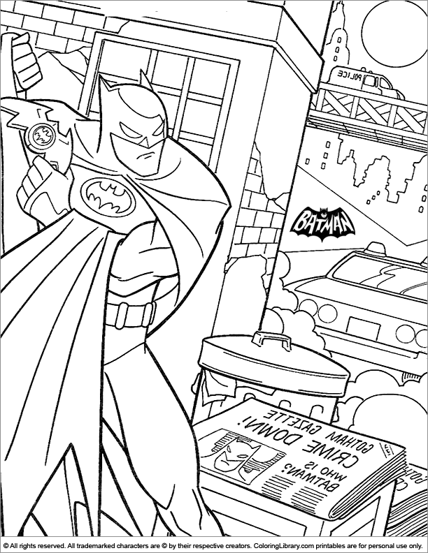 Batman color page for kids - Coloring Library