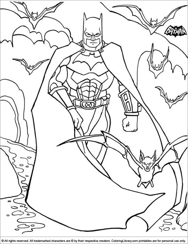 Batman free online coloring page