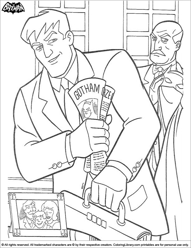 Batman online coloring page