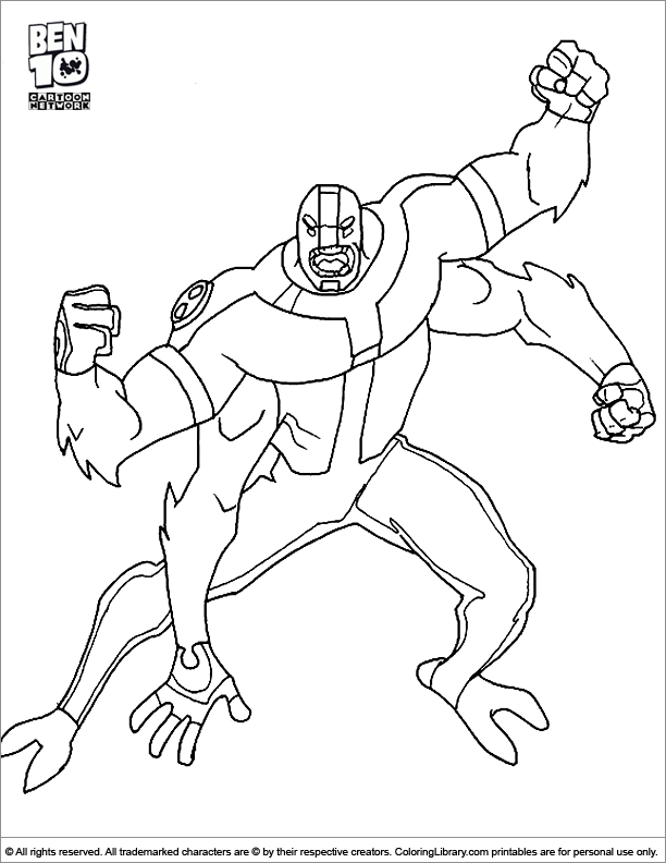Ben10 Four Arms Coloring Pages