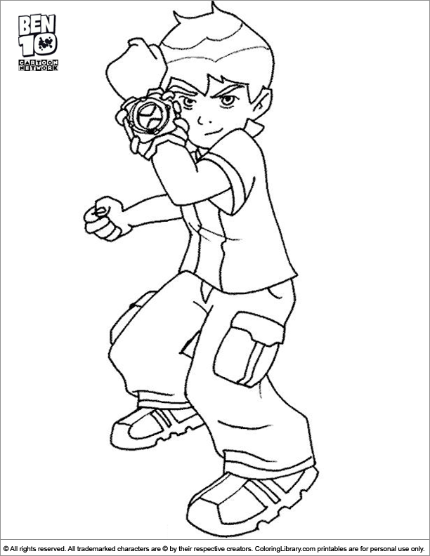Amazing Ben 10 coloring page