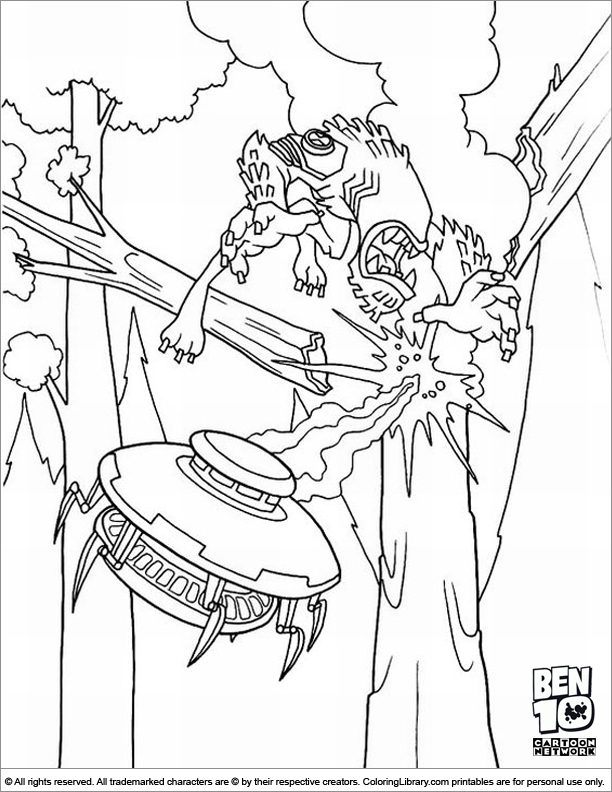 Ben 10 free coloring page for children