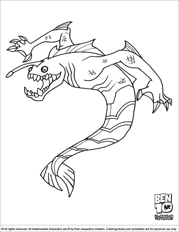 ben 10 coloring pages goop - photo#7