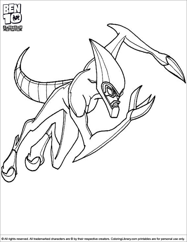 Ben 10 coloring page for kids