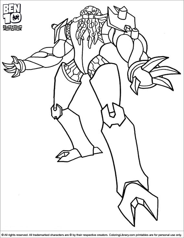 Ben 10 free coloring page