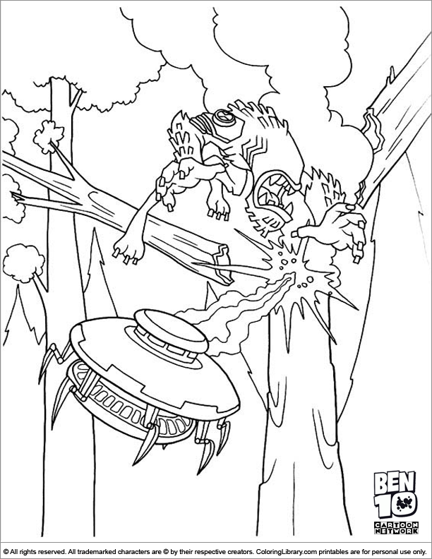 Ben 10 coloring picture for kids