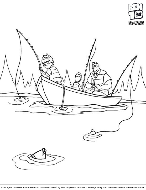 Ben 10 coloring page online